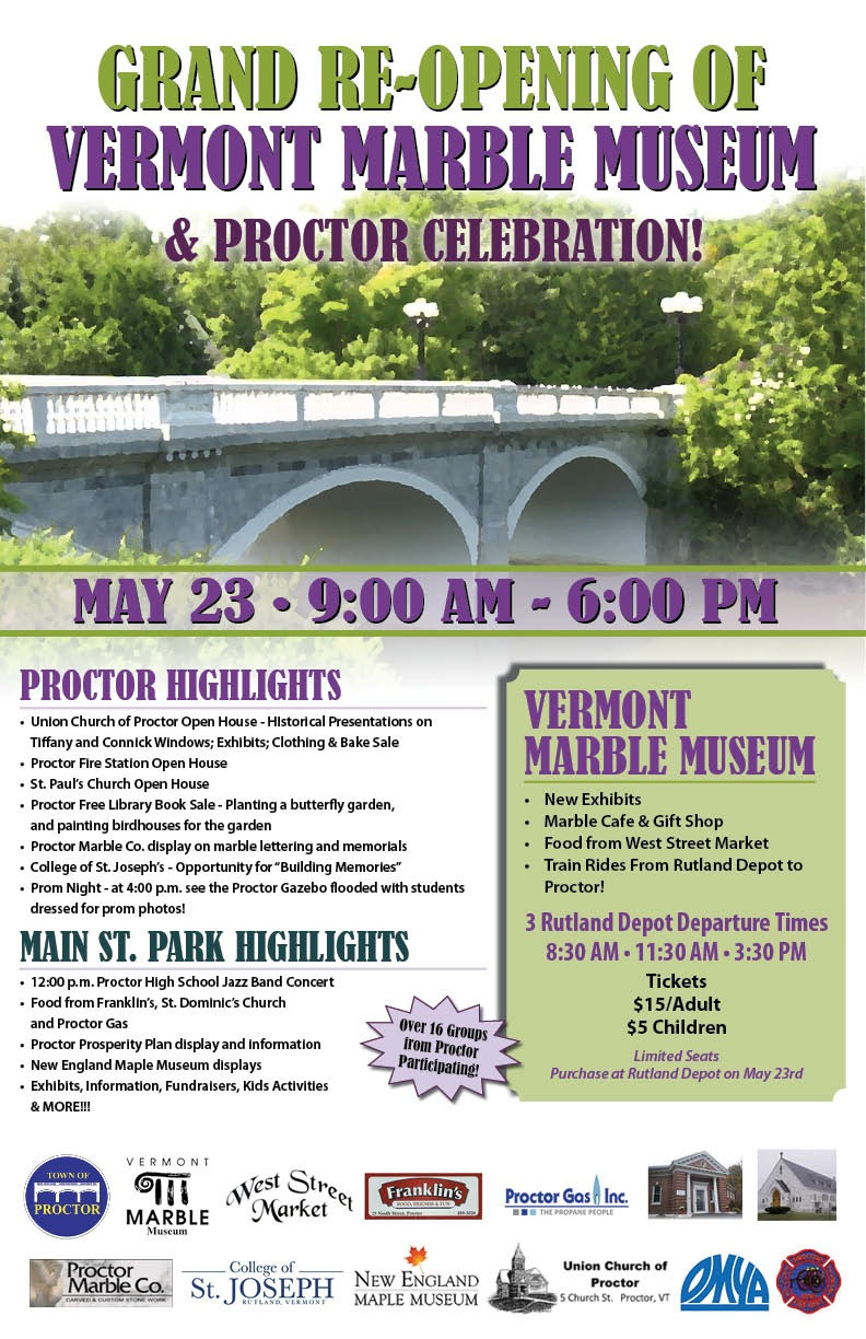 Grand Re Opening Of Vermont Marble Museum Amp Proctor