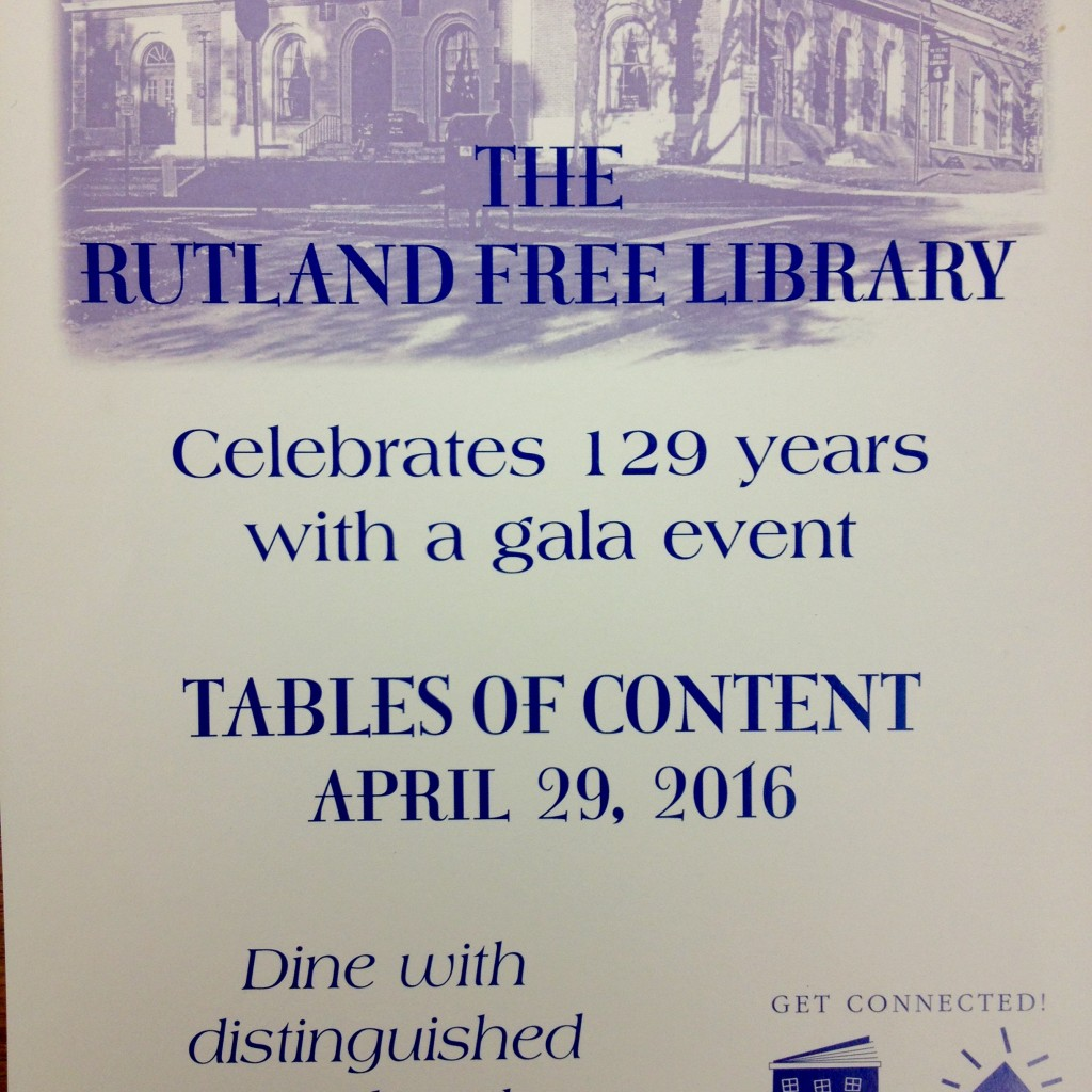 Rutland Free Library Table of Contents