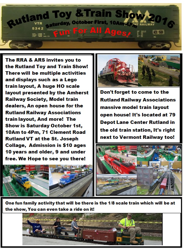 Rutland Toy and Train Show 2016 (Good)