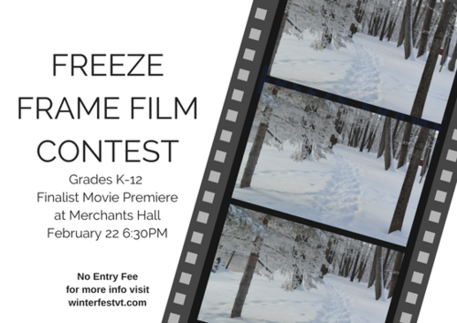 Freeze Frame Film Contest Premiere - Rutland Region Chamber of Commerce