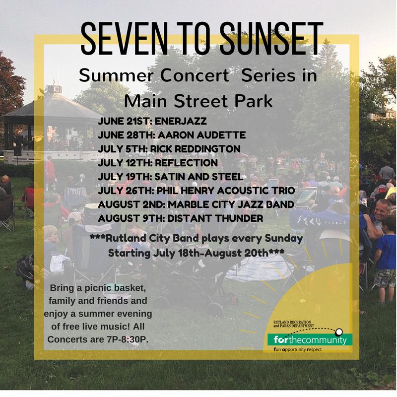 Marble City Jazz Band Concert in Main Street Park - Rutland