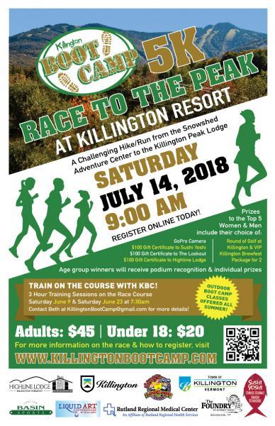 4th Annual Killington Boot Camp Race To The Peak - Rutland