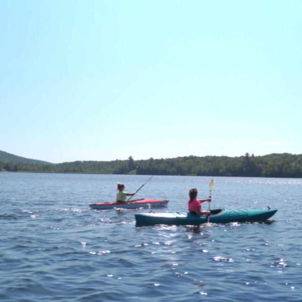 Kayaking outdoors on the Chittenden Reservoir