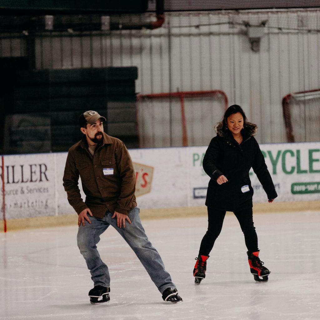 ice skating at Spartan Arena